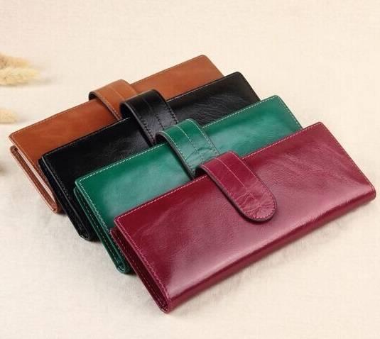 Wallet Wholesale, Waxy Skin Women Genuine Leather Wallets