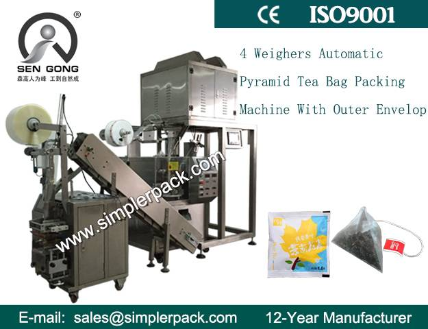 Organic Herbal Tea Bag Packing Machine with Outer Envelope Direct Factory