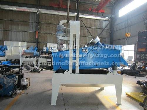 Sand recycling system for sand washing plant