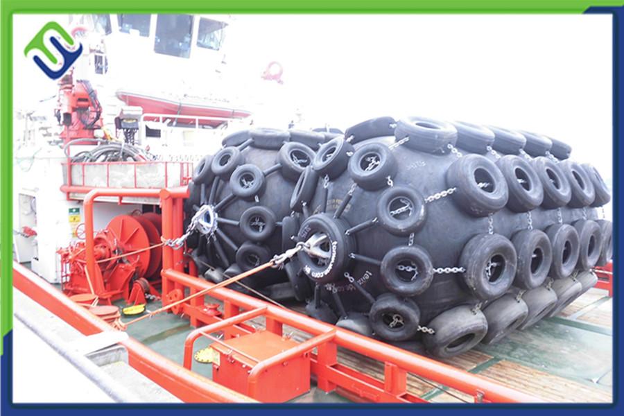 Florescence ISO17357 floating pneumatic rubber fender