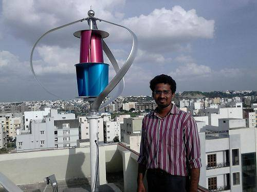 400w no noise and high efficient wind turbine on thr houseroof(200w-5kw)