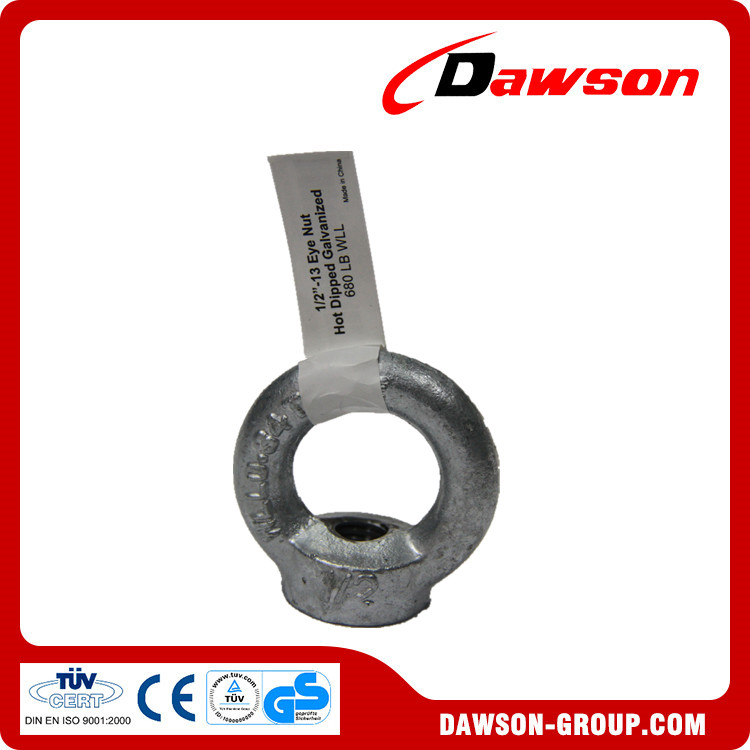 Dawson Group Drop Forged Lifting din582 eye nut
