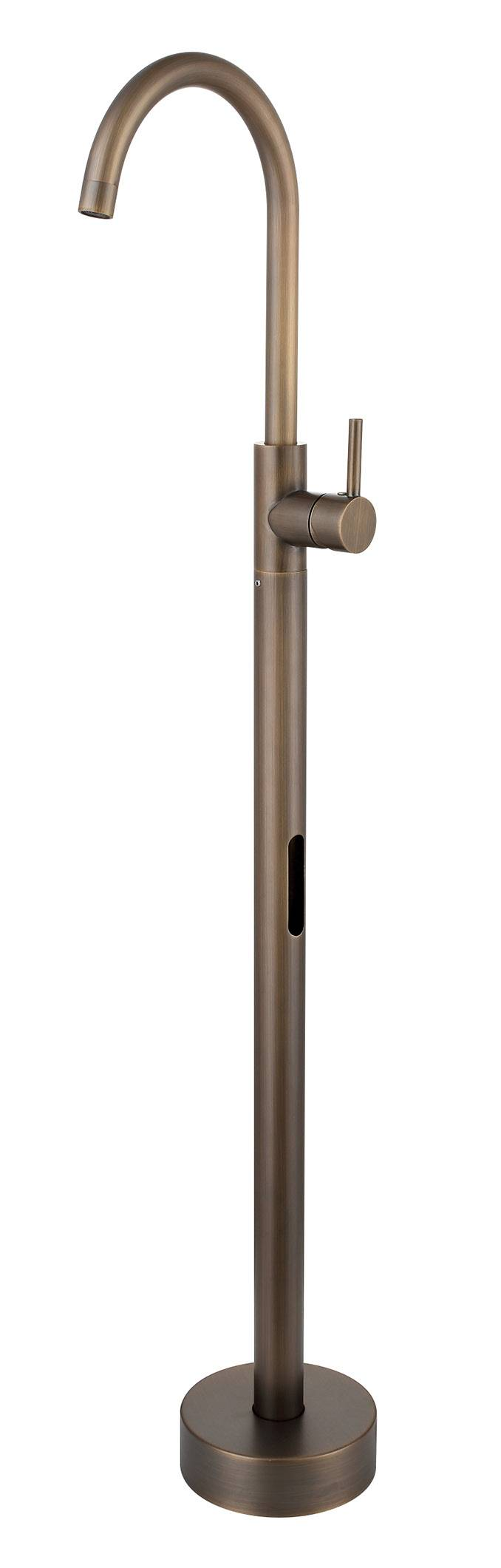 Solid Brass Antique Floor Standing Pedestal Basin Faucet- Antique Brass Finish