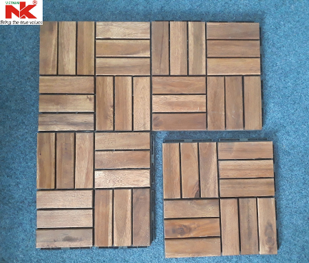 Acacia Wood Anti-slip Interlocking Deck Tile