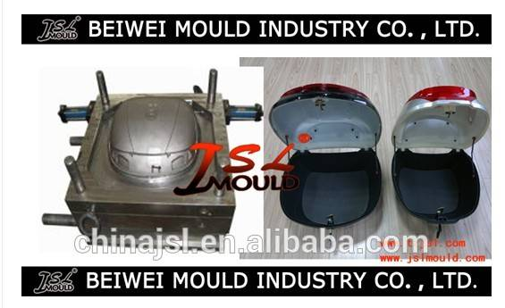 Motorcycle trunk/tail box plastic mould