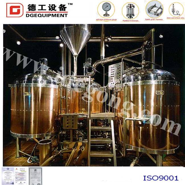 Red copper beer brewing equipment used for hotel/restaurant/pub