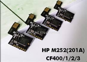 Smart toner chip for HP CF400 CF401 CF402 CF403 M252 toner