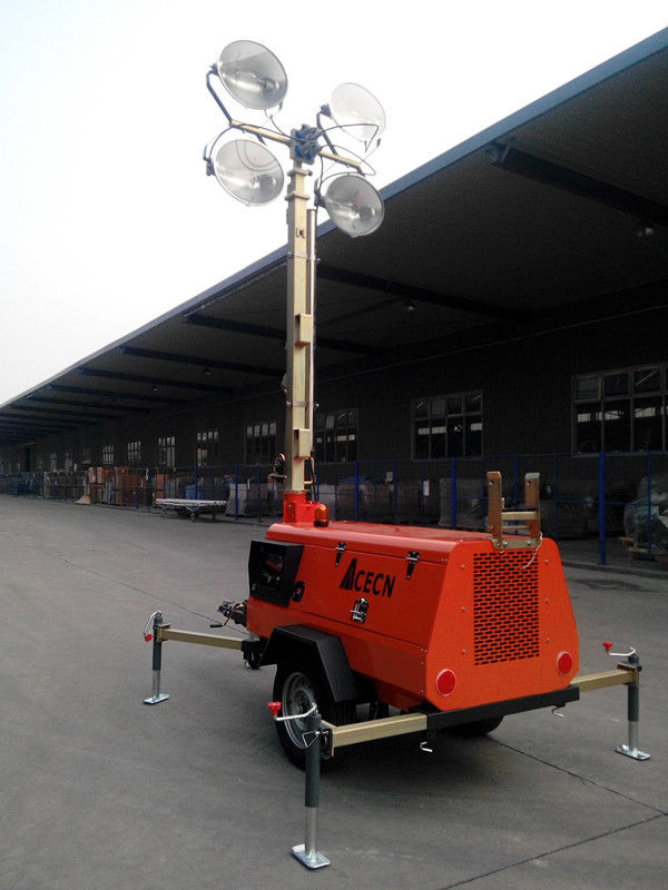9m 41000W Mobile Light Tower GTLT09TN4000 with Kubota Engine Manual Operation