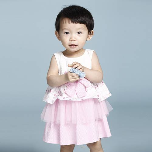 Latest Cute Printed Cotton Sleeveless Baby Dress for Girls