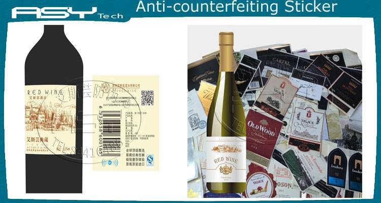 Customized NFC anti-forgerylabel stickers for  wine