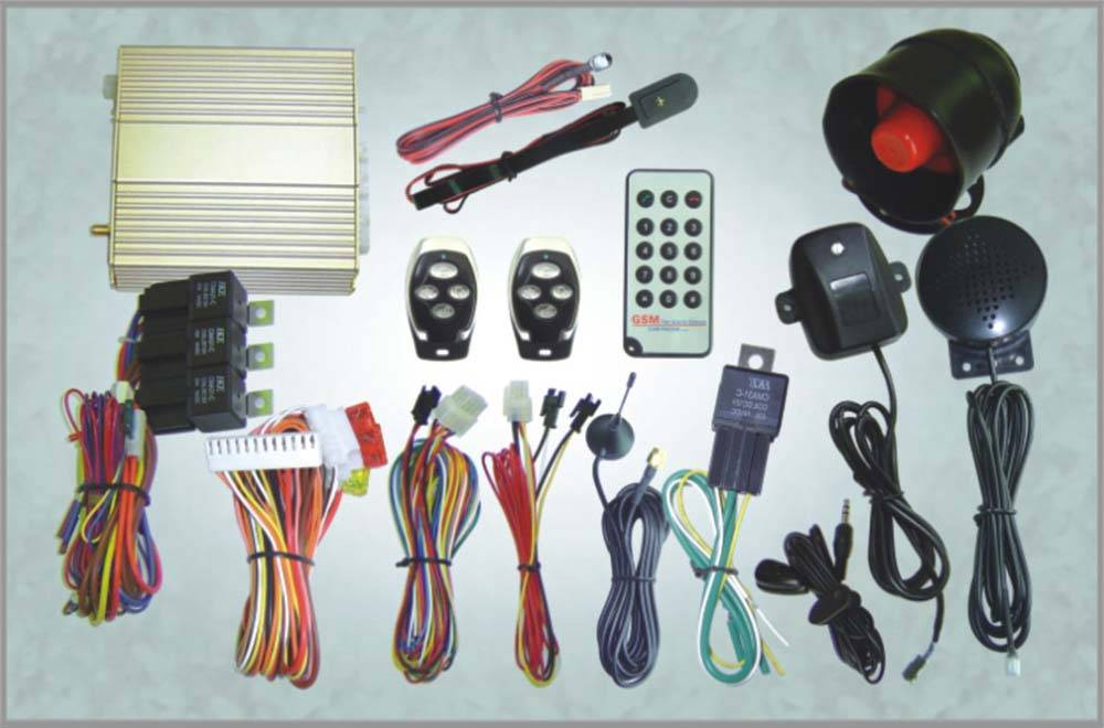 GSM car alarm(with engine star,air-conditioner start)