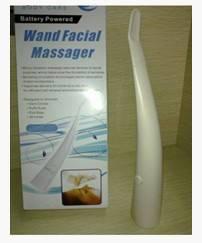 Wand facial massager