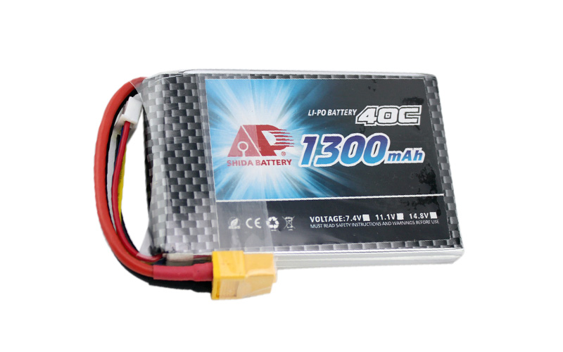 Shida 1300mAh 40C battery for FPV drones