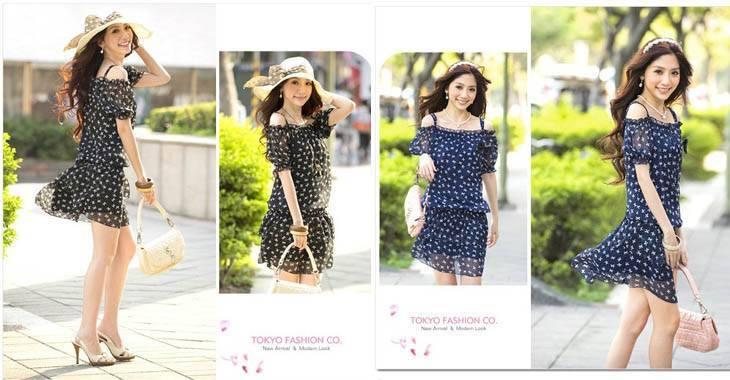 Cute bow strapless dress-23C   -jjfashion Products ID: 024A-80454#