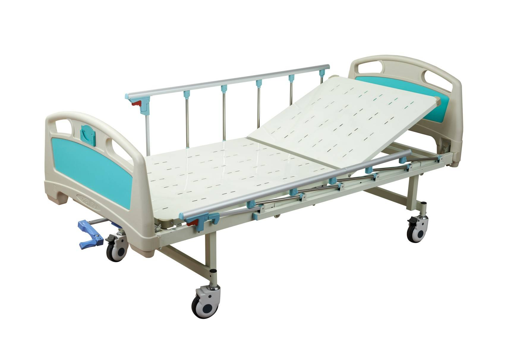 Medical equipment one function ABS Single crank Hospital Bed