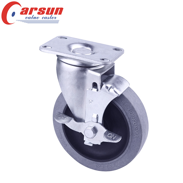 Medium Duty Swivel Caster with Conductive Wheel