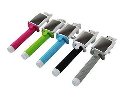 Self-timer Mobile phone Extendable Ski Pole Handle Telescopic Monopod KS-Z07-13