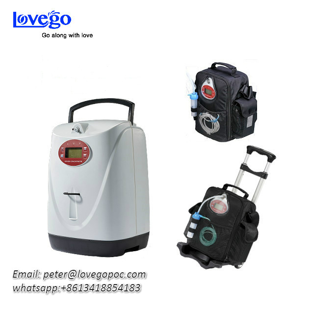 Newest Lovego Portable Oxygen Concentrator LG102S with both continuous and pulse oxygen flow