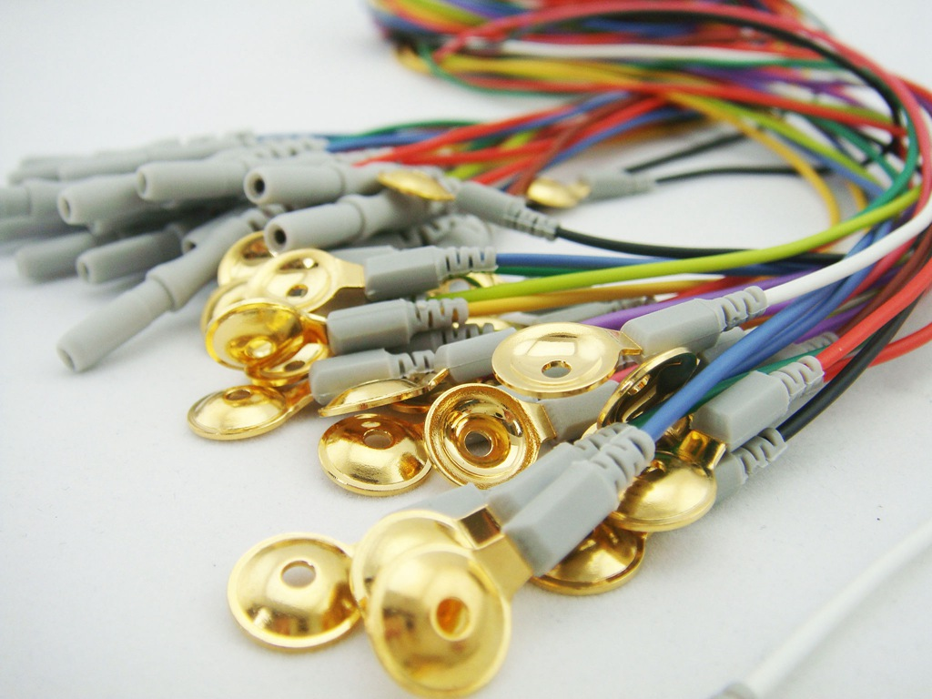 Greentek Gold Plated EEG Cup Electrodes Coated Gold Electrodes