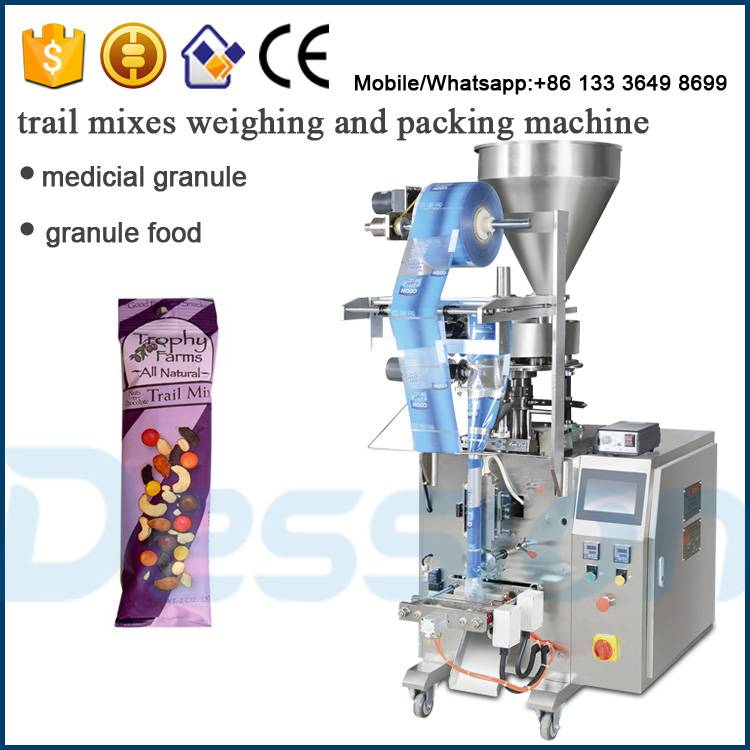Automatic trail mixes weighing and packing machine