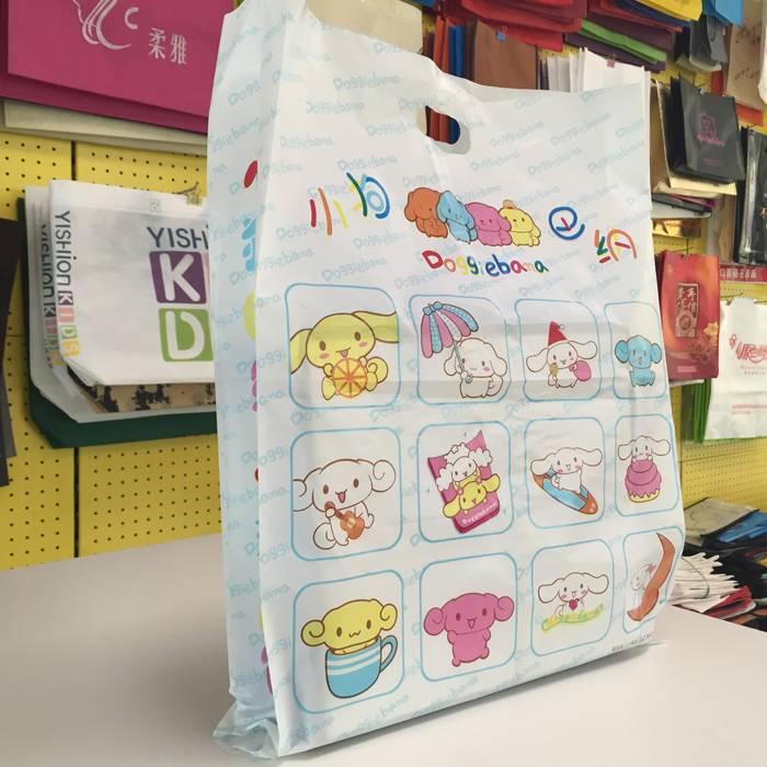 HDPE/LDPE Plastic Die-cut handle Shopping bag/Retail grocery bag/Vest carrier bag