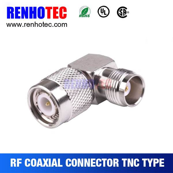 90 Degree TNC Male to Female Connector