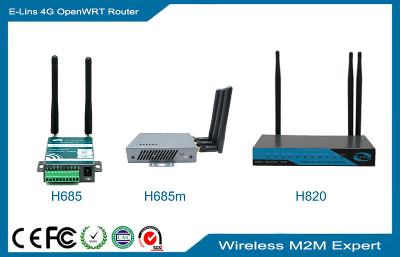 4G OpenWRT Router, OEM LTE WRT router 2.4Ghz 5Ghz Dual Band WiFi with POE GPS Serial VPN