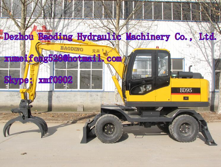 Baoding Sugarcane Loader 9 ton log loader