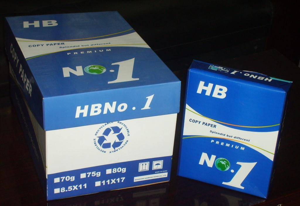 HB No 1 paper Letter Size 8.511,75gsm and 80gsm