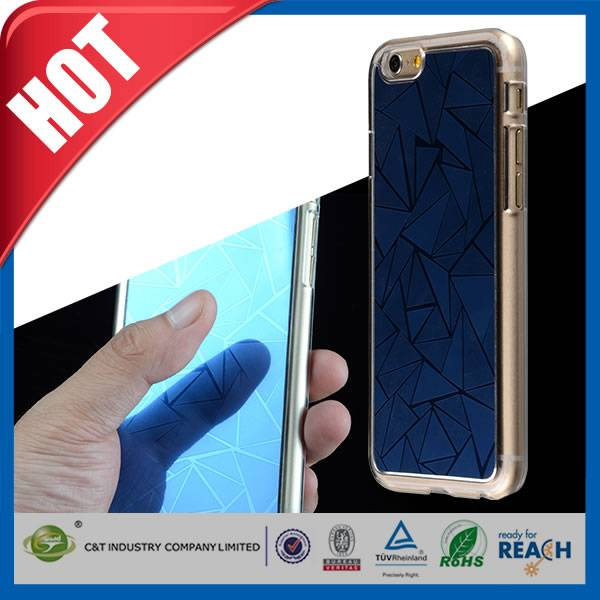 C&T hot selling mirror clear pc mobile phone case for iphone 6 plus