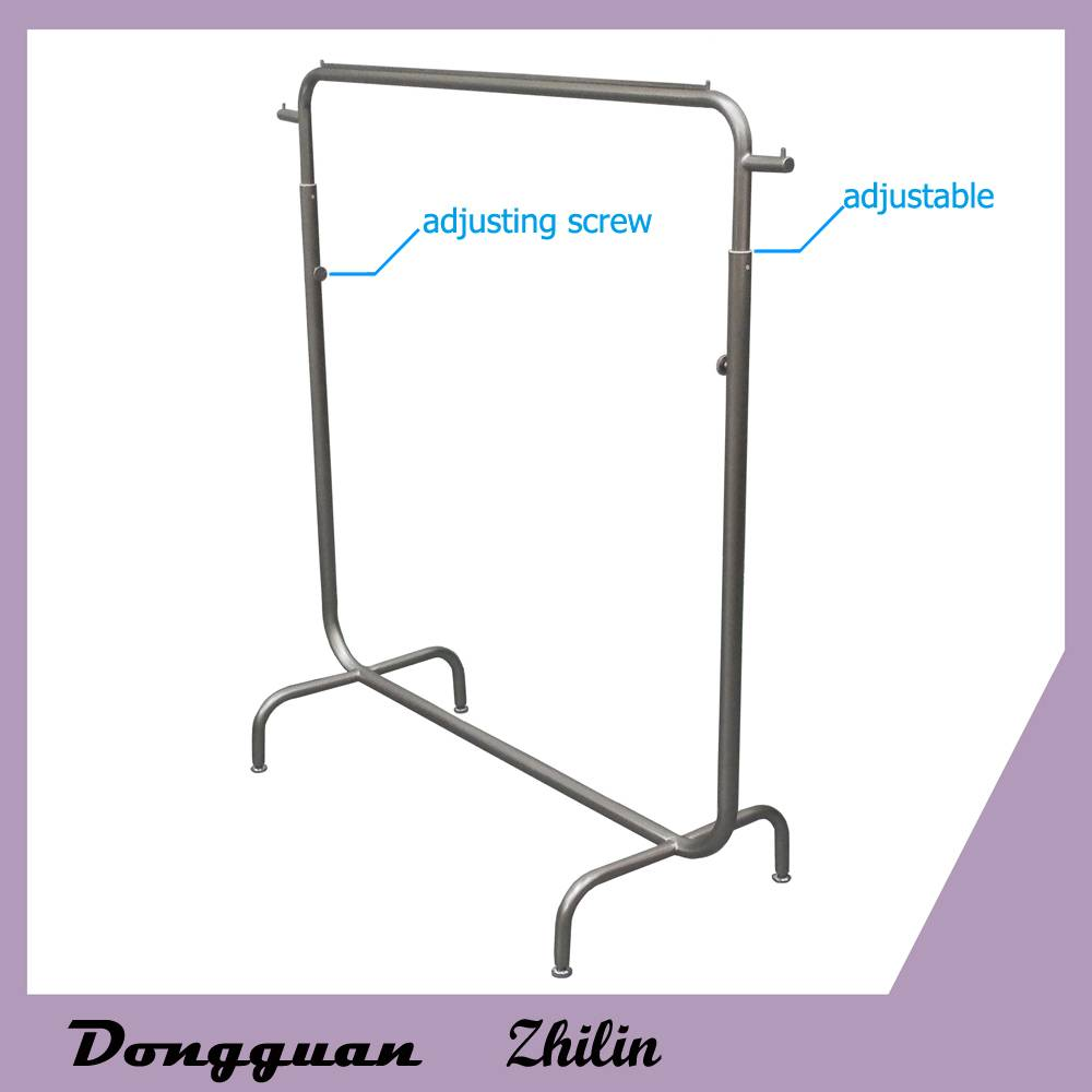 hot sale fashion design hanging clothing metal display racks/Garment metal display stand