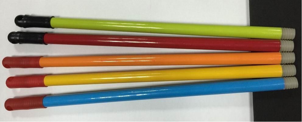 pained Iron handles/ metal broom handles