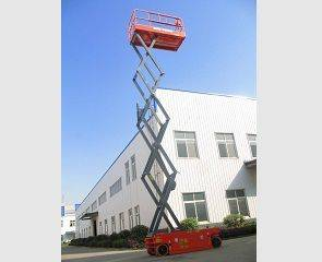 Electric Scissor Lift with Lifting Height 9.8m,Capacity 250kg(GTJZ 0812)