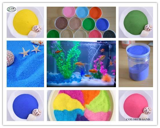 Waterproof Natural or Artifical Colored Sand for Aquarium Usage/Vase filler sand