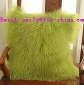 Fur Pillow Tibet Lamb Fur Cushion for Sofa