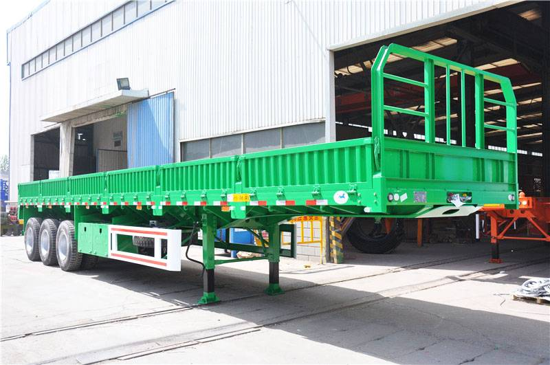 Fudeng BPW Axle Dropside Flatbed Semi Trailer By Sinotruk Head Sales Africa