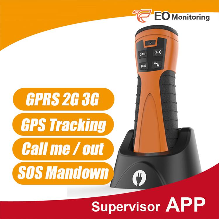 GPS GPRS 125KHZ guard patrol system with mandown&call&SOS