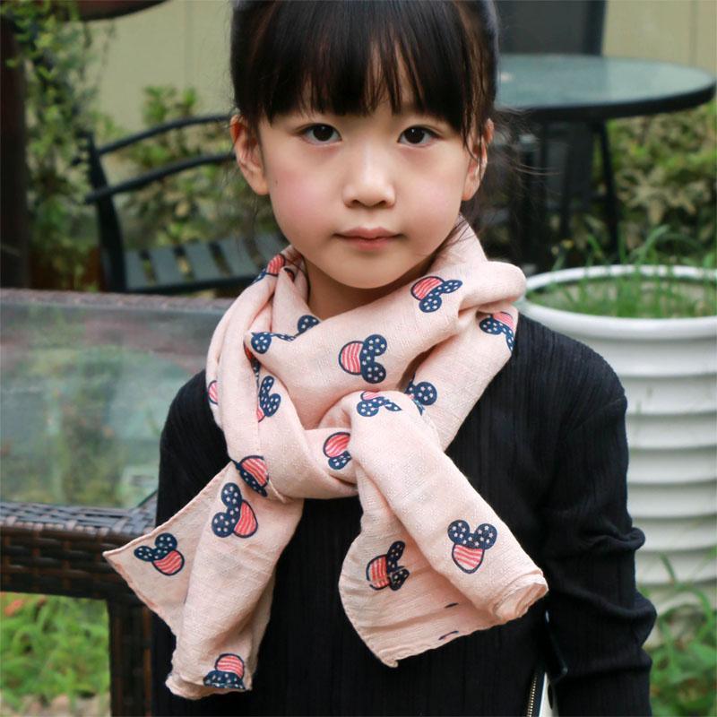 Soft Fashion Kids Children Scarf with Mickey Pattern