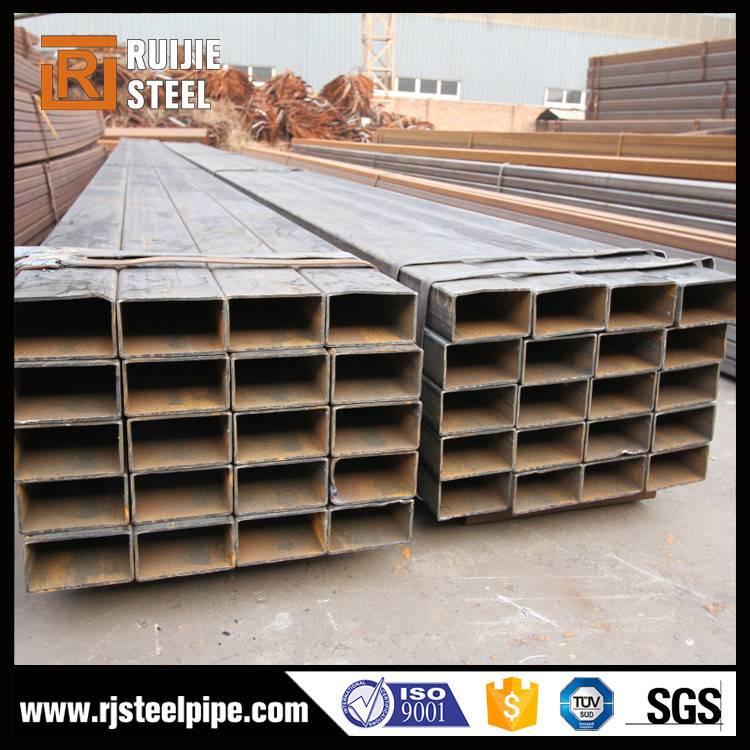 Black Carbon fiber welding steel rectangualr tube (RHS)