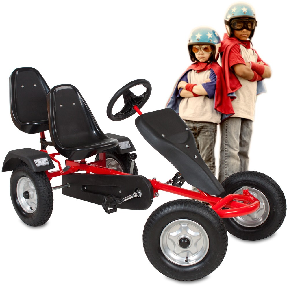 Double seats pedal go karts for adult and kids