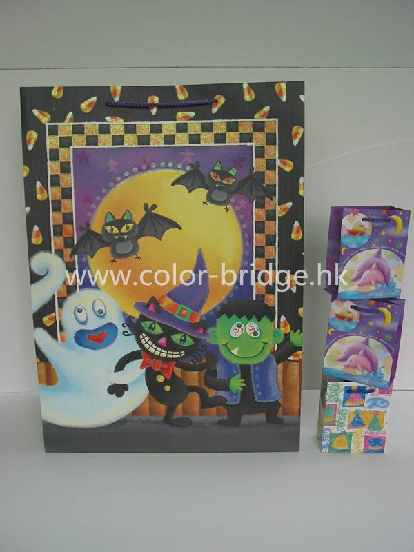 Customizing Festival Gift Paper Bag Birthday Halloween  Christmas Gift Bag
