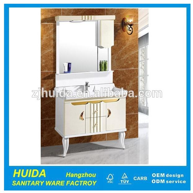 Soft Sliding PVC Bathroom Cabinet Vanity unit Vanity Combo Fittings