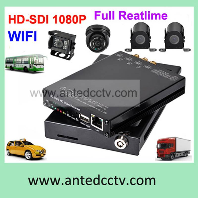 1080P WIFI 4 channel mobile dvr for vehicles video monitoring system