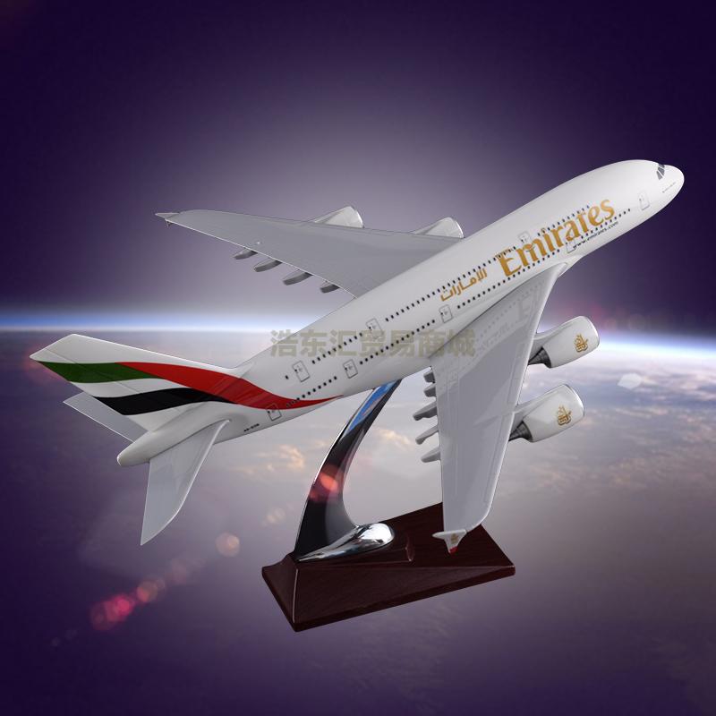 Airplane Model Resin crafts Airbus 380 Emirates Airways Desktop Gift Emulational Model Plane