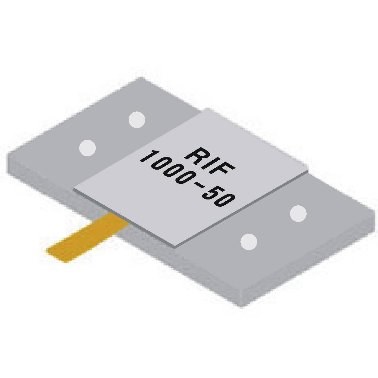 Supply microstrip resistance loading slice rf resistance 1000W high-power resistance