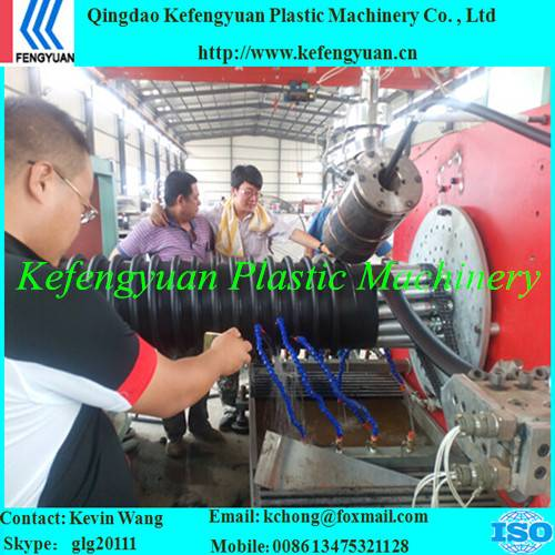 B type structure wall corrugated krah carat pe hdpe pipe tube production line