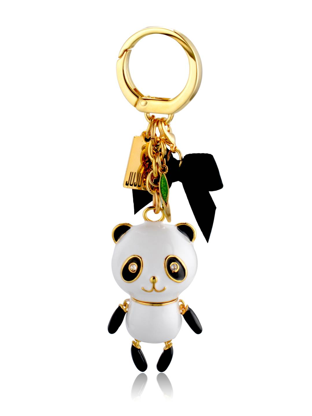 Panda USB-24K gold plating metal 8GB flash drive with enamel
