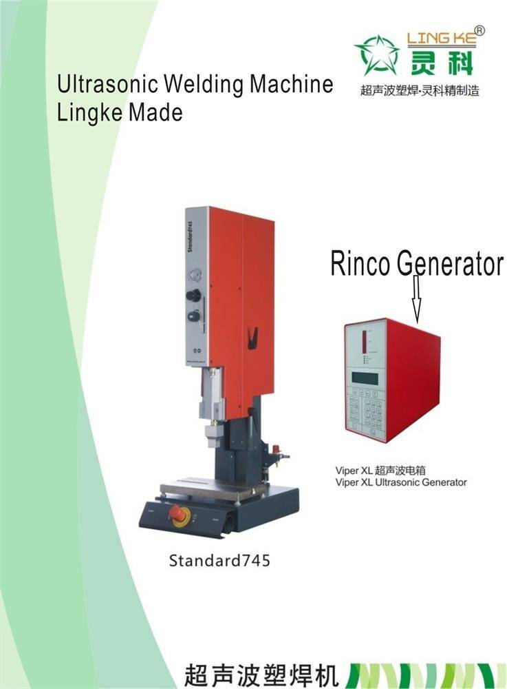 Rinco ultrasonic plastic welding machine