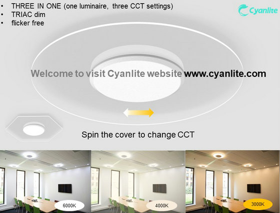 Shanghai Cyanlite CCT Changeable Transparent LED Ceiling Light SATURN