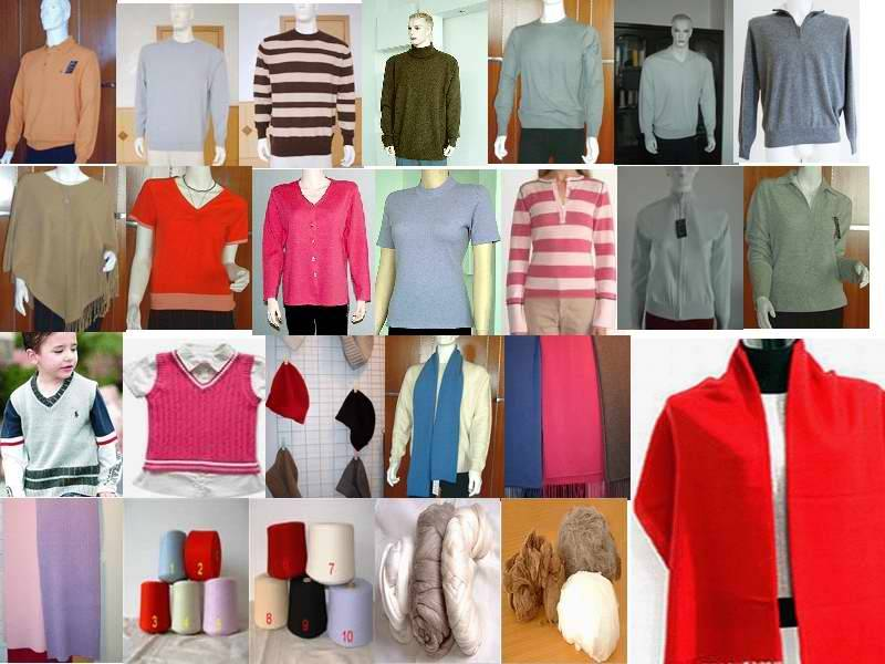 100%cashmere,blended apparel and accessories